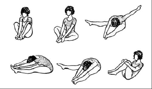 Лечебная физкультура по Атабекову (в положении сидя).