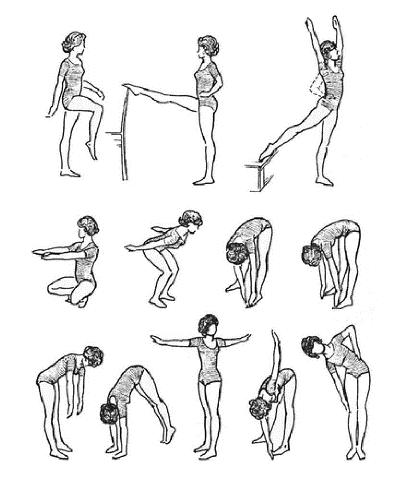 Лечебная физкультура по Атабекову (в положении стоя).